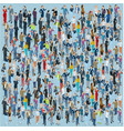 isometric people crowd vector image