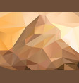 low poly mountains background vector image