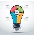 Modern Creative Light Bulb Style infographics vector image