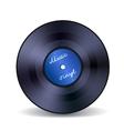 Retro vinyl music record emblem vector image