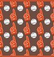 seamless baseball balls pattern background vector image