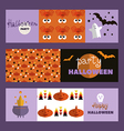 Set of halloween cards2 vector image