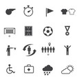 soccer football icons set vector image