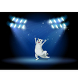 A sealion at the stage with spotlights vector image
