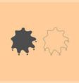 Abstract ink blot dark grey set icon vector image