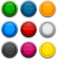 Round colorful icons vector image