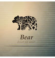Bear logo design template vector image