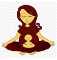 meditating mother - vector image
