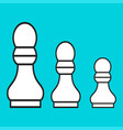 chess figure a pawn on a blue background vector image
