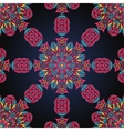 Pink and blue ornate seamless with paisley vector image