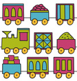 Trains seamless pattern vector image