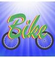 Two Bike Wheels vector image