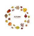 nice modern fall leaves autumn decorative vector image vector image