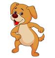 Funny dog cartoon dancin vector image