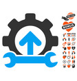 gear integration tools icon with lovely bonus vector image