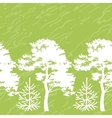 Seamless trees silhouettes and abstract pattern vector image vector image