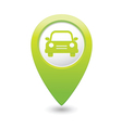 car icon green map pointer vector image vector image