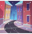 Winter Street vector image