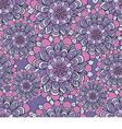 beautiful pattern with flowers on a purple vector image