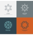 Logos templates in style with floral elements vector image vector image