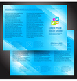 brochure folder colorful design blue vector image