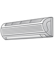 air conditioner vector image