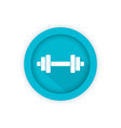 barbell icon round pictogram vector image