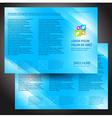 brochure folder colorful design blue vector image