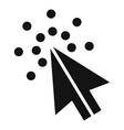 cursor digital icon simple black style vector image