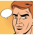 Detective man cartoon design vector image