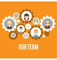 Our team banner Teamwork concept vector image
