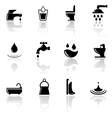 plumbing sanitary engineering icons set vector image