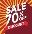 Sale 70 persent off discount vector image
