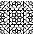seamless arabic geometric ornament in black and vector image