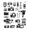 video and photo cameras and different professional vector image