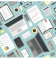 Seamless flat background Business desk vector image