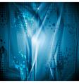 Bright blue grunge backdrop vector image vector image