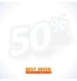 label percent vector image vector image