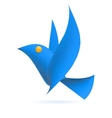 Blue bird ecology element vector image vector image