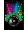 rainbow disco background vector image