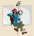 Cartoon Photographer vector image