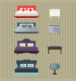bedroom furniture design vector image