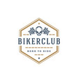 biker club logo template design element vector image
