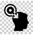 brain interface plug-in icon vector image