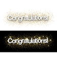 Congratulations paper banners vector image