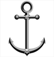 iron pirate anchor vector image