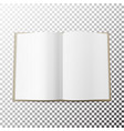 open magazine spread blank simple mock up vector image