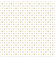 Pattern with colorful polka dots vector image