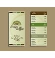 Restaurant and cafe menu Flat design With dream vector image