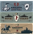 Knights Banners Set vector image
